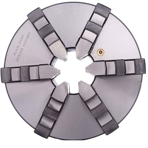 6Jaw Lathe Chuck 200mm Self-centering 8'' Chuck K13-200 Plain Back Hardened Steel for CNC Milling Lathe Machine
