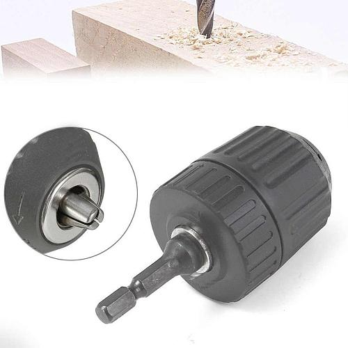 1 Pcs Drill Chuck(included Hex Shank) Suitable For Power More Impact Drill 1050w V9D2