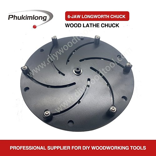 Phukimlong 12   300mm Wood Turning Lathe Chuck Bowl Making Clamping Protecting Chuck Woodworking Machine Tool Accessories