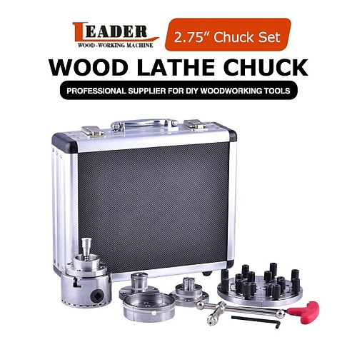 2.75 inch 70mm 4 four jaw self-centering wood turning lathe chuck set woodworking carpentry tools set accessories for DIYer