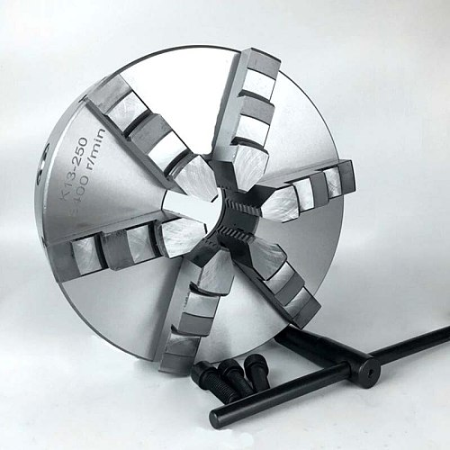 6-Jaw Self-centering Lathe Chuck 10'' 250mm Chuck Six Jaws K13-250 for Lathe Drill Milling