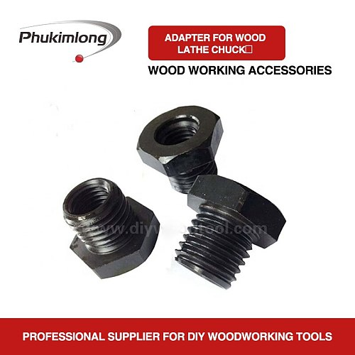 Phukimlong Thread Adapter For Wood Turning Lathe Chuck Screw Thread Spindle, Woodworking Conversion Accessories