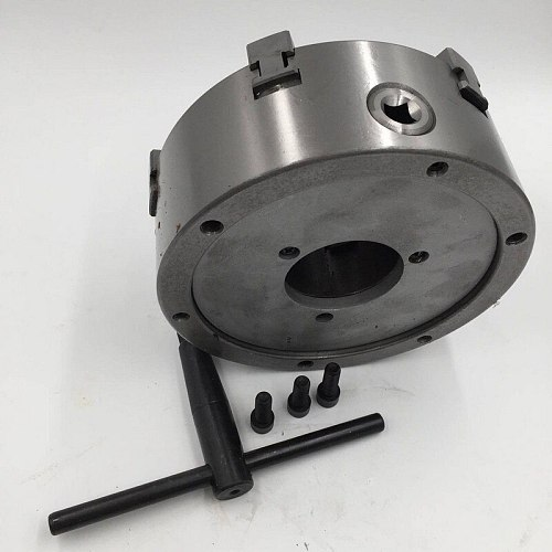 6 Jaw 160mm 6 inch Lathe Chuck Self Centering SANOU K13-160 Hardened Reversible Mounting Tool for Drilling Milling woodworking
