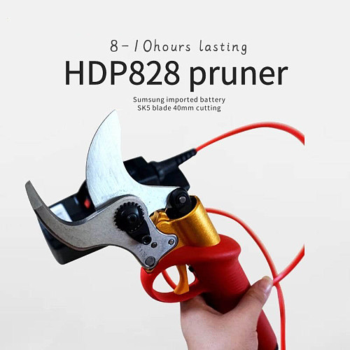 HDP828 40mm electric pruning shears, CE pruner (8-10 hours lasting)