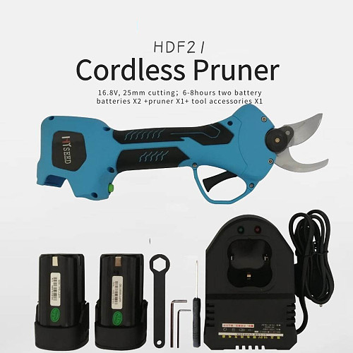 Cordless Rechargeable Electric Pruning Scissors Pruning Shears Garden Pruner Secateur Branch Cutter Cutting Tool