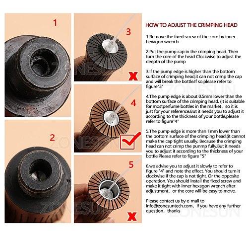 Manual Crimping Machine Capper Metal Cap Press Machine Capping Machine Perfume Spray Crimper