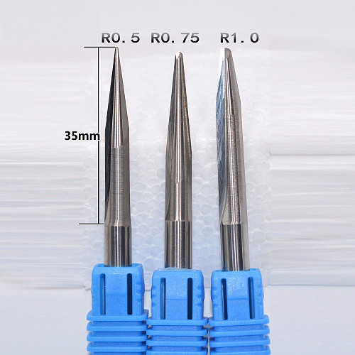 6mm*60L,Freeshipping,CNC Solid Carbide Milling Cutter,tapered ball nose end mill,woodworking tool,relief sculpture