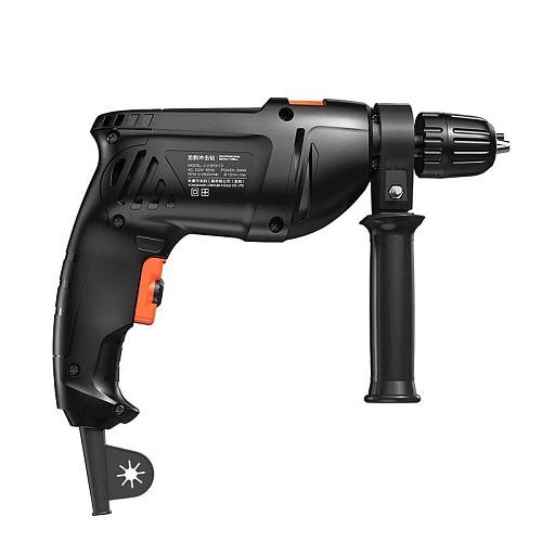 Impact Drill 500w Black Household  Screwdriver  Home Power Tools Multifunction Rotary Tool  Electric Drill  Hammer Drill