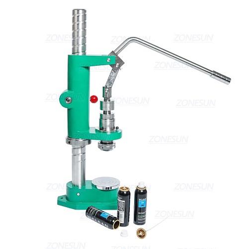 Manual Spray Bottle Aerosol Aluminium Bottle Crimping Capping Pressing Machine For Sunscreen Spray Medicine Car Cleaner