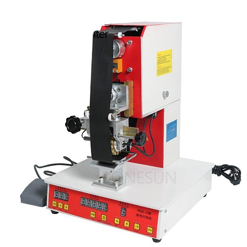 Automatic Pneumatic Dialling Stamping Machine Date Code Embossing Machine Direct Thermal Coding Printing Machine