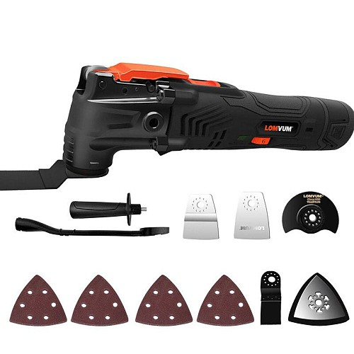 LOMVUM Renovator Power Tool Multi-Function Electric Saw Variable Speed Oscillating Trimmer Home Woodworking Tools Cutter Saw