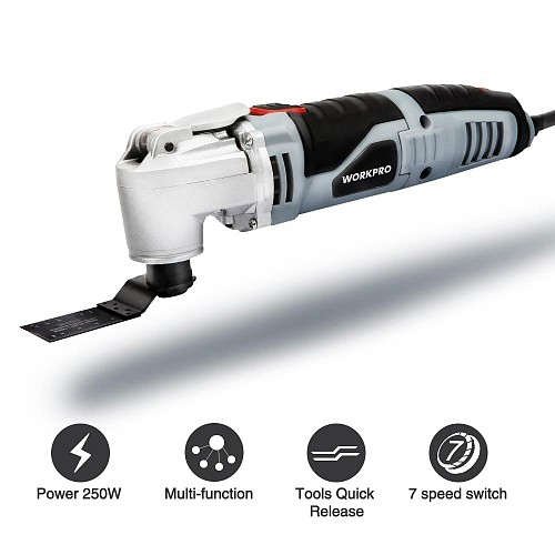 250W Oscillating Multi-Tool  Electric Trimmer Saw  Home Renovator Tool DIY Woodworking Tool With 40pc Accessory Kit