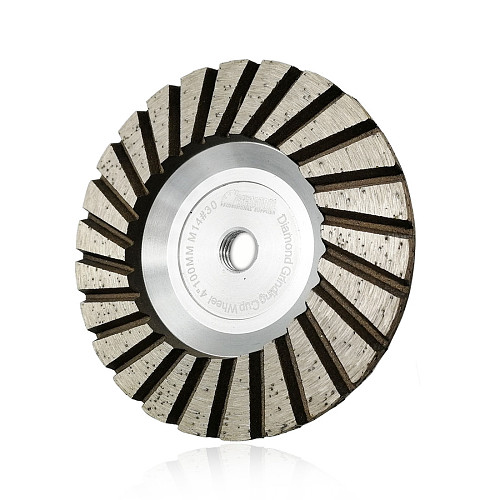 SHDIATOOL 1pc M14 Dia 4 /100mm Diamond Grinding Cup Wheel Aluminum Based Grinding Disc Granite Marble