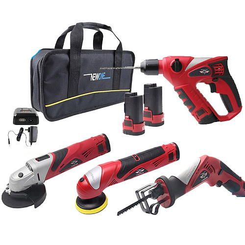 12V Electric hammer, Reciprocating Saw,Grinder Combo Kit,Cordless Power Tool with Accessory