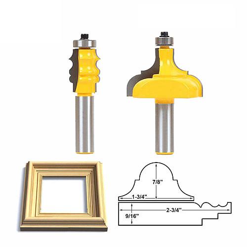 LAVIE 2pcs 12mm 1/2 Shank Picture Frame Router Bits Tenon Cutter C3 Carbide Line Bit Woodworking Milling Cutter for Wood MC03098
