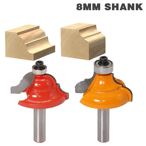 1pcs High Quality Cove Bit With Bearing 8mm shank Dovetail Router Bit Cutter wood working