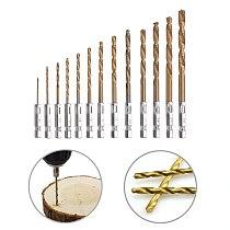 13pcs/lot HSS High Speed Steel Titanium Coated Drill Bit Set 1/4 Hex Shank 1.5-6.5mm Twist Drill Bit