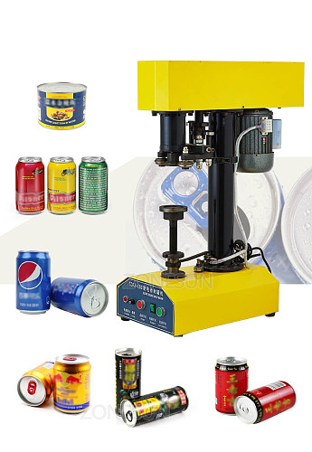 39-150mm Canned food beer plastic Seamer Tinplate can sealing machine ring-pull canning capsuling capping machine