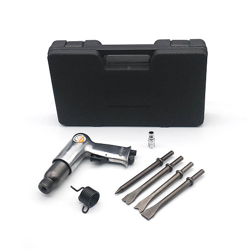 190mm Air Hammer Super Duty Pneumatic Hammer Riveter Air Power Tools with 4pcs Chisels