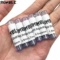Rumble 60pcs 0.5mm 0.6mm 0.7mm 0.8mm 0.9mm 1.0mm Micro HSS Straight Shank High Speed Steel Drill Bits Drill Bits Hand Tools