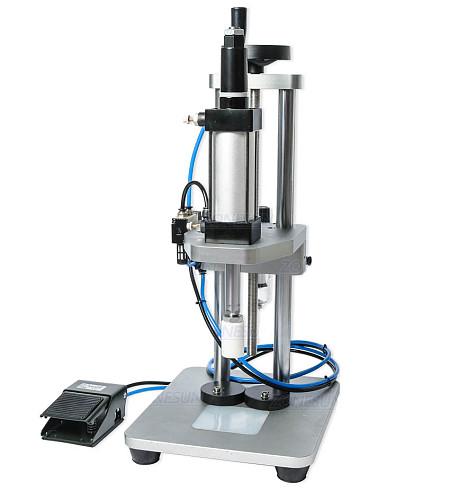 Pneumatic Perfume Glass Bottle Capping Machine Desktop Perfume Collar Small Bottle Crimping Pressing Machine