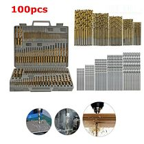 100pcs set 1/1.5/2.0/2.5/3mm HSS Titanium Coated Twist Drill Bits High Speed Steel Drill Bit Set Power Drilling Tools for Wood
