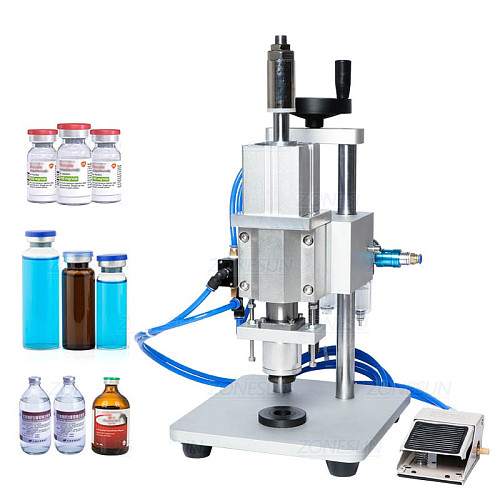 Pneumatic Capping Machine Oral Liquid Penicillin Bottle Capper Aluminum Glass Vial Crimper Machine