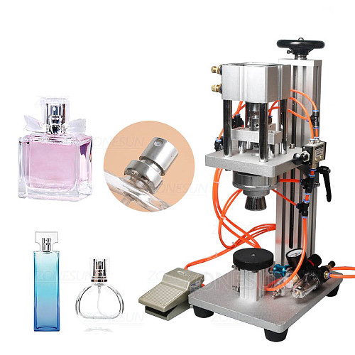 Pneumatic Perfume Crimping Machine Capper Metal Cap Press Machine Sealing Machine Perfume Capping Machine Crimper Sealer