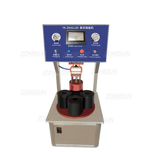 Semi-automatic Vacuum Capping Machine Chili Sauce Canned Tinplate Glass Bottle Custom mold Vacuum sealing Machine