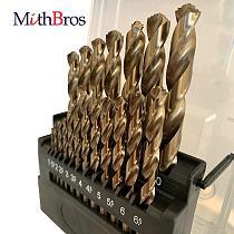 MithBros M42 8% Cobalt Twist Drill Bits HSS Twist Drill Bits Set Set for Stainless Steel, Hard Metal and Wood Drilling