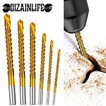 6pcs/lot Cobalt Drill Bit Set Spiral Screw Metric Composite Tap Drill Bit Tap Twist Drill Bit Set for Cutting Drilling Polishing