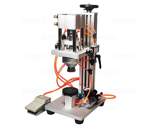 Pneumatic Perfume Crimping Machine Capper Metal Cap Press Machine Sealing Machine Perfume Capping Machine Crimper Sealer