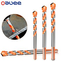 Oauee Threaded Triangle Tungsten Steel Wall Tile Concrete Drilling Bit Household Marble Overlord Drill Hand Electric Drill