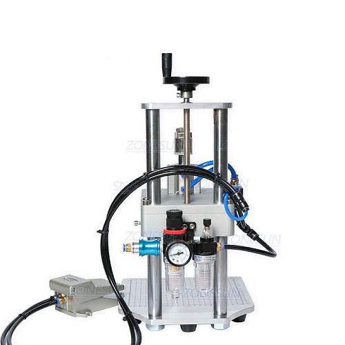 Pneumatic Oral Liquid Penicillin Antibiotic Injectable Bottle Capper Aluminum Plastic Glass Vial Crimper Capping Machine