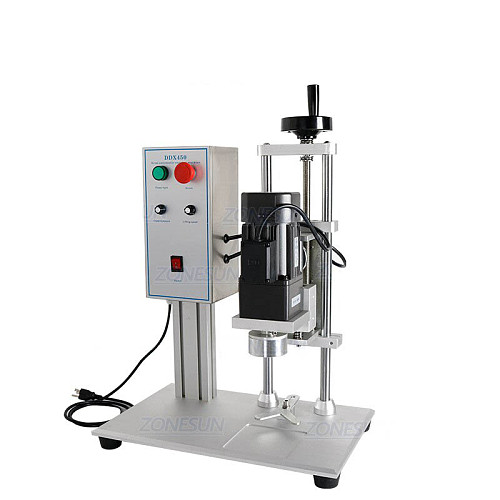 Semi-Auto Capping Machine Electrical Desktop Cap Screwing Machine 10-50mm Caps Perfume Collar Ring Tobacco Tar Bottle
