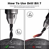 Countersink Drill Bit High-Speed Steel Drill Adjustable Carpentry Reamer Plated for Wood DIY (3-10mm)