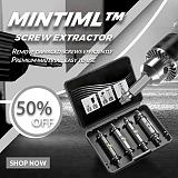 Mintiml™ Screw Extractor 4 Pcs Double Side Drill Out Set Damaged Screw Extractor Out Remover Set Broken Head Screw Removal Tools