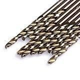 10Pcs/Set 3.5mm M35 Triangle Shank HSS-Co Cobalt Twist Drill Spiral Drill Bit