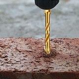 SHENGZUAN thread triangular wall tile marble glass drill bit  golden concrete bit