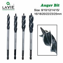 LAVIE 8 to 25mm Wood Twist Bit Auger Drill Bits four Cutters Drilling Cut for woodworking DB03020A