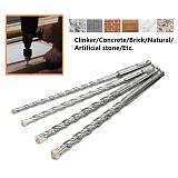 5/6/8/10mm High Speed 11cm Concrete Drill Bit Double SDS Plus Slot Masonry Hammer Head Tool White Steel Wrench For Electric Dril