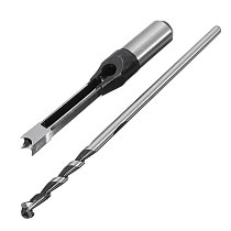 10mm/16mm Square Hole Saw Auger Drill Bit Mortising Chisel Woodworking Tool Mortising Hole Drills