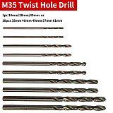 Cobalt HSS Twist Drill Hole 1pc/10pcs M35 Stainless Steel Tool Set Ground Metal Reamer Tools 1mm/1.5mm/2.0mm/2.5mm/3.0mm