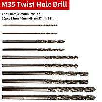 Cobalt HSS Twist Drill Hole 1pc/10pcs M35 Stainless Steel Tool Set Ground Metal Reamer Tools 1mm/1.5mm/2.0mm/2.5mm/3.0mm