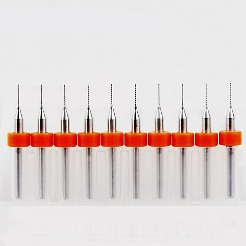 0.8mm 0.7mm 1.2mm 0.3mm-2.2mm Carbide Drill, PCB Mini CNC Drilling Kit, 10PCS Woodworking Tools, Alloy CNC Milling Machine