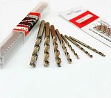5PCS 3.1mm-5.0mm HSS-CO M42 Drill Bits Cobalt high speed steel twist Drill Stainless Steel (3.2/3.5/3.8/4.0/4.2/4.5/4.6/4.8mm)