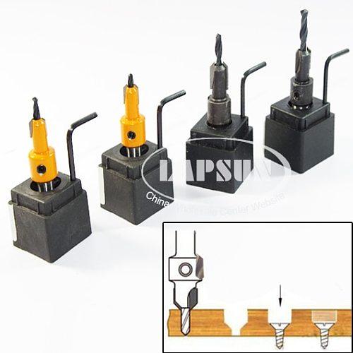 4pcs Hss Woodworking Ti Countersink Drill Bit Set Wood Countersinks Screw Size 3mm 3.5mm 4mm 4.5mm