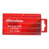 20pcs Mini Drill Bit High Speed Steel HSS Micro Twist Drill Bit Set 0.3mm-1.6mm Model Craft with Case Power Tool for Metal Drill