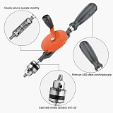 Hand Drill 1/4 3/8 Inch Double Pinions Crank Drill Capacity Manual Drilling Tool For Wood Plastic Acrylic Circuit Board Punching