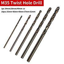 10pcs/1pc Ground Metal Reamer Tools Cobalt HSS Twist Drill Hole M35 Stainless Steel Tool Set 1mm/1.5mm/2.0mm/2.5mm/3.0mm